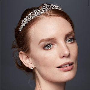 - David's Bridal - Scalloped Rhinestone Tiara